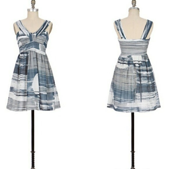 Anthropologie Dresses & Skirts - Anthropologie Sine stormy seascape blue dress